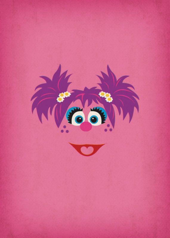 Minimalist Sesame Street posters: Abby Cadabby