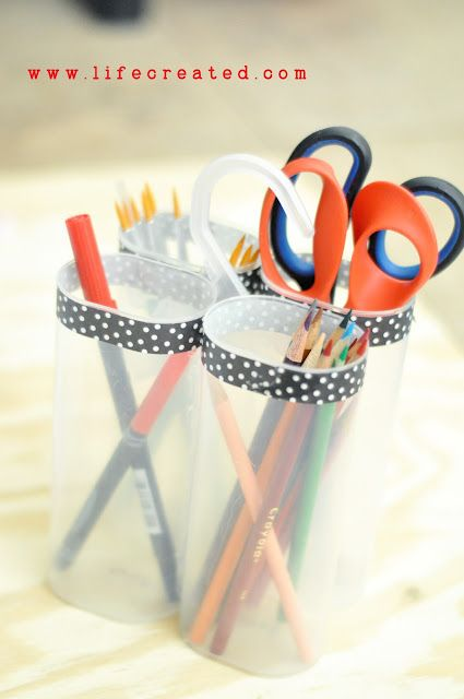 The Crafty Blog Stalker: What to Make Out of a Crystal Light Container neat