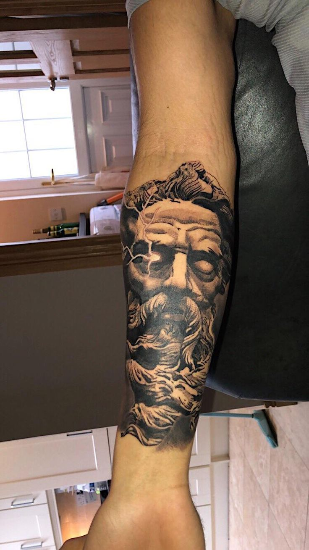 Zeus by Alex krawiecHydraulix tattooDublin Greek tattoos