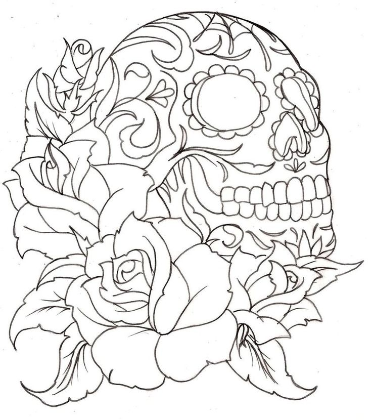 Day Of The Dead Coloring Pages For Adults skullcoloring