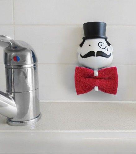 Achetez le porte éponge moustachu Mr Sponge sur lavantgardiste. Dénicheur d'originalité.