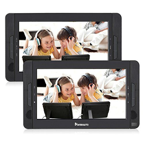 10 1 Dual Screen Portable Dvd Player With 5 Hour Built In Rechargeabl Warning Remember To Just Tak Portable Dvd Player Rechargeable Batteries Dvd Player