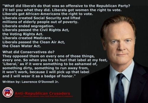 Here's what liberals did that was so offensive to the Republican Party.  Source: Democratic Underground