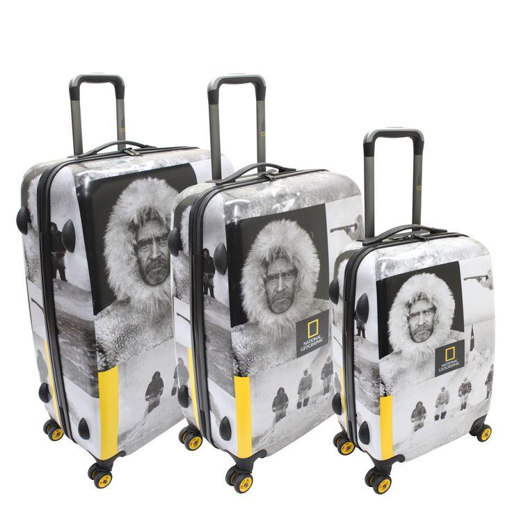 #Kofferset National Geographic Pioneer Robert E. Peary bei Koffermarkt: ✓Motiv mit dem legendären #Polarforscher  ✓Hartschale ✓3-teilig ⇒Jetzt kaufen