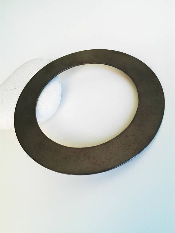 Black Platinum Bangle  Brass BangleGeometric Jewelry
