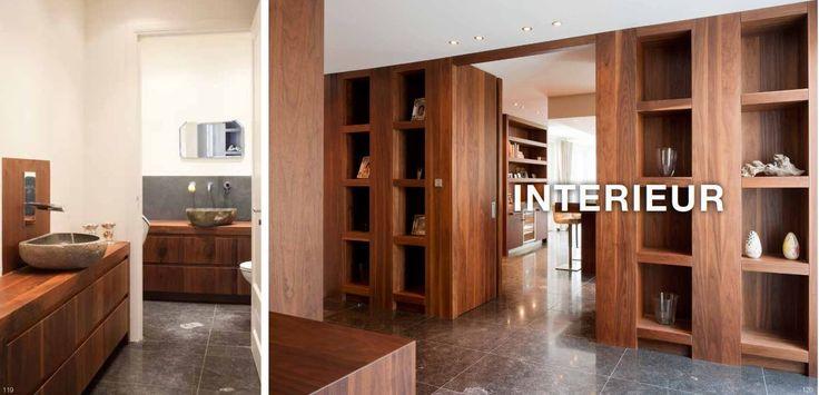 Interieur uitgevoerd in massief noten hout - The Living Kitchen by Paul van de Kooi