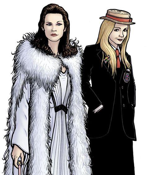 Illustrated version of Romana I's famous white dress