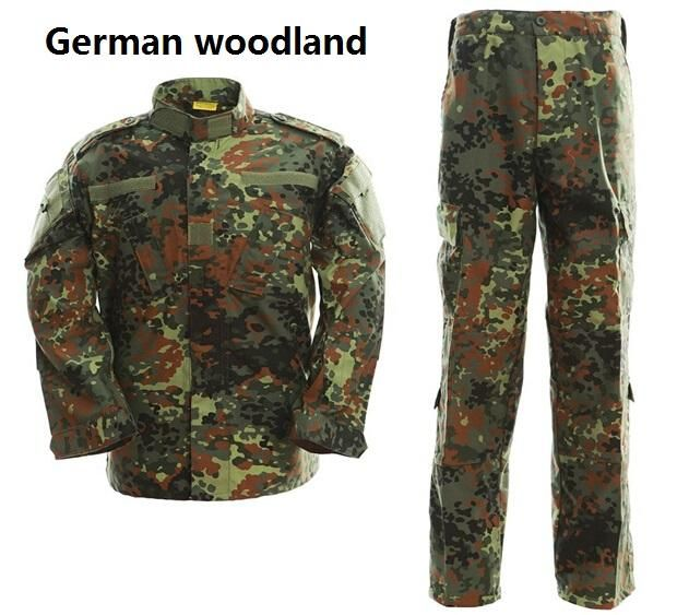 [Visit to Buy] Tactical Uniform Camouflage Suit Military Combat Uniform Set Shirt + Pants German Woodland Camouflage Clothing Hunting Clothes #Advertisement