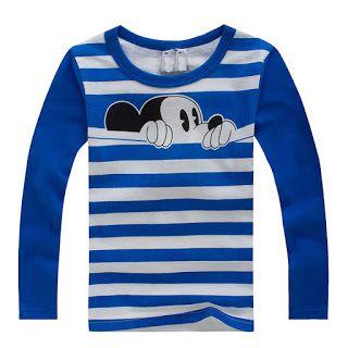 Googgler: Buy Autumn Winter 100% Cotton Kids T Shirt Cartoon Mouse Long Sleeve…