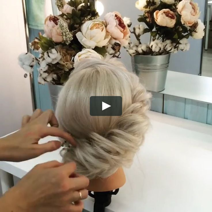 Hairstyle with a bun for the evening