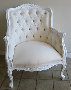 French Provincial Louis XV Wing Chair , maybe too white/pure/clean, I like a little age to show