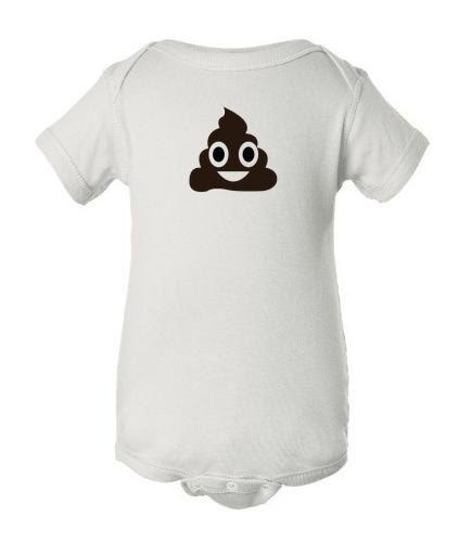 Hilarious Poop Emoji Onesie by JaMthreads on Etsy