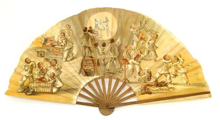 Eventail Vers 1900 - La Lanterne Magique