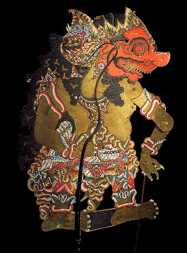 Shadow puppet antique collection Balinese hand made painted leather eleven puppets movement control struts are hand carved animal horn makes for a truly fine shadow puppet antique collection.