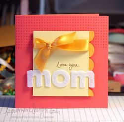 simple card for mom: Cards Mothers, Crafts Ideas, Cards So Adorable, Cards Colors Purple, Mothers Day Cards, Cards Crafts, Colors Scallops, Cards Ideas Misc, Mom