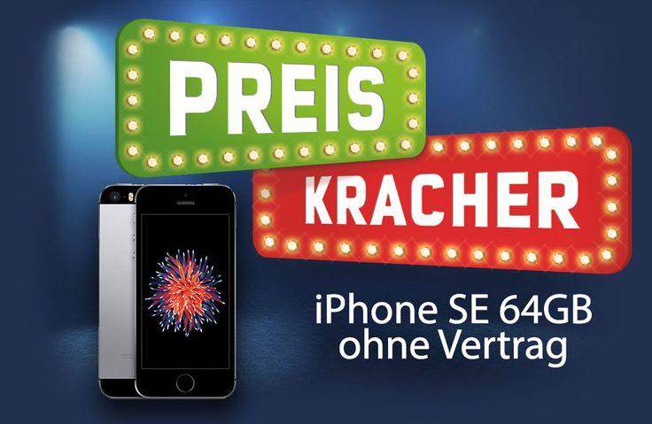 Preiskracher: neues iPhone SE 64GB ohne Vertrag nur 465 Euro! - https://apfeleimer.de/2016/10/preiskracher-neues-iphone-se-64gb-ohne-vertrag-nur-465-euro - Apple iPhone SE mit 64GB in space-grau und silber billiger im Preiskracher (formerly known as Sonntagskracher)! Wieder einmal bietet mobilcom-debitel das 64GB iPhone SE ohne Vertag billiger als die Konkurrenz an. iPhone SE Preiskracher – nur kurze Zeit für 464,99 Euro im Sonderangebot Zwar ...