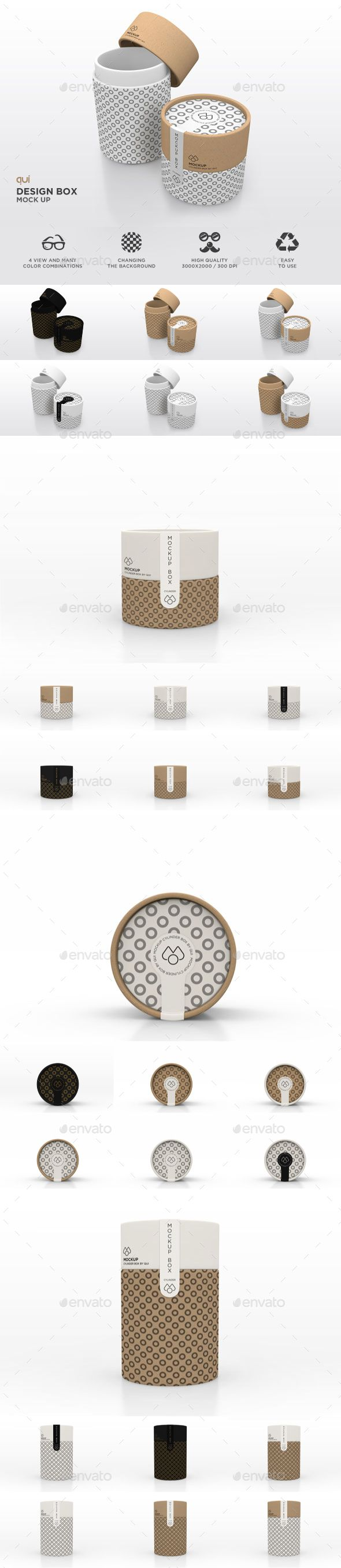 Packaging Mock Up - Paper Carton Tube by quizzicall Our Packaging Mock Up �20Paper Carton Tube will help you visualize the real look and feel of a design on your merchandise. These mo
