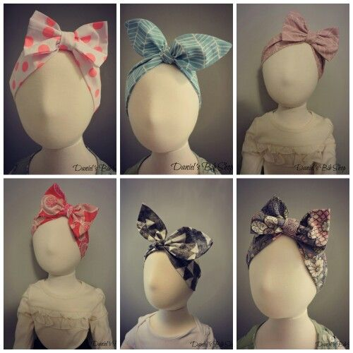 Handmade bows and top knot headbands!