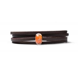 """Trollbeads Royal orange.  Een gelimiteerde oplage van Trollbeads. Speciaal voor de troonswisseling in Nederland brengt TROLLBEADS Royal Orange-sieraden uit! Het pronkstuk, de gefacetteerde glaskraal Royal Orange, is feestelijk oranje met goud gekleurd. Een echte must-have voor iedere oranjefan! """"Een kraal met Koninklijke Allure! Het jaar 2013 is een bijzonder jaar voor Nederland omdat de prins van Oranje wordt gekroond tot Koning Willem-Alexander."""