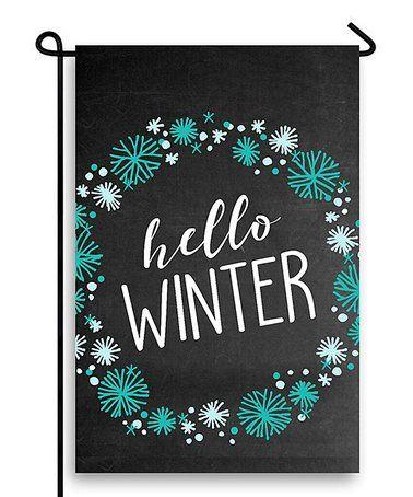 Wreath 'Hello Winter' Outdoor Flag #zulily #zulilyfinds