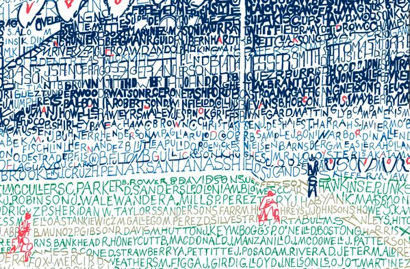 This handwritten Yankee Stadium word art print is the perfect gift for baseball fans! Look great as a poster, framed print, or wall art.