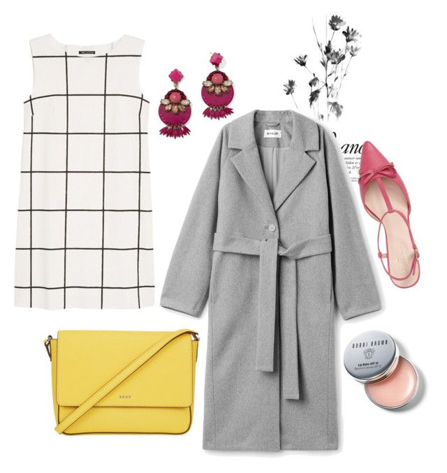 """Modern romance"" by elshakalaka on Polyvore featuring Kate Spade, DKNY, MANGO, BaubleBar, Bobbi Brown Cosmetics and modern"