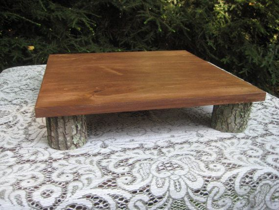 Rustic Wedding Cake Stand Log Slices by YourDivineAffair on Etsy, $44.95