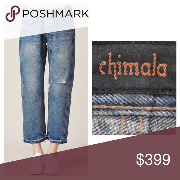 CHIMALA USED MEDIUM ANKLE CUT JEAN SIZE 31 $525 These have been worn by me twice for a short period of time and are in excellent condition. CHIMALA Size: 31, 100% Cotton  and these are made in Japan Measurements: Waist (In): 36 Hips (In): 42 Inseam (In): 25 Leg Opening (In): 8. From a non smoking house Chimala Jeans Ankle & Cropped