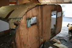 """1965 Serro Scotty Sportsman """"My girlfriend and I rebuilt this vintage camper. I hope you enjoy seeing the process."""" By imakethenews."""