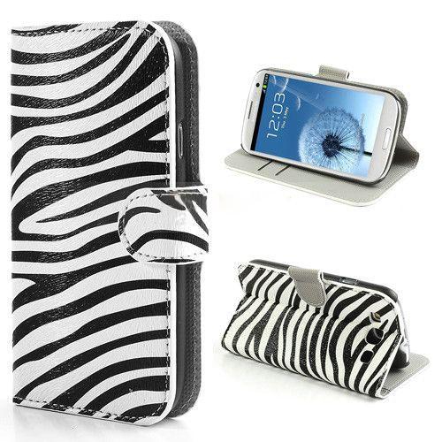 Zebra patroon booktype hoesje Samsung Galaxy S3