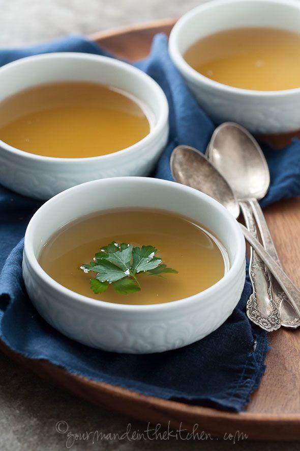 Nourishing Detox Broth on gourmandeinthekitchen.com Restorative Vegetable Broth: a nourishing and cleansing soup.