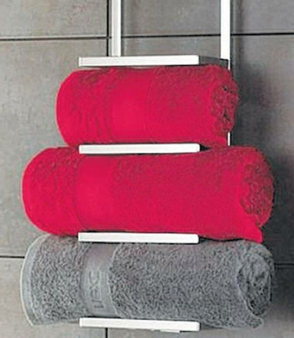 7 best porte serviette images on pinterest over door for Rack porte serviettes bain