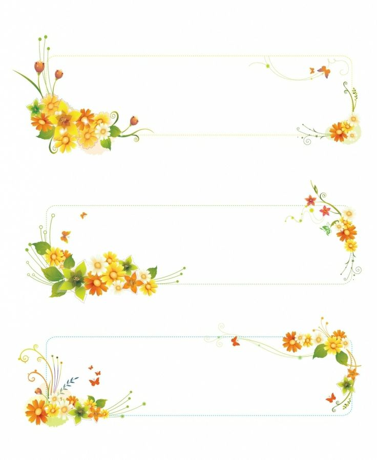 FLOWERS / Free vector Vector flower Flowers banners