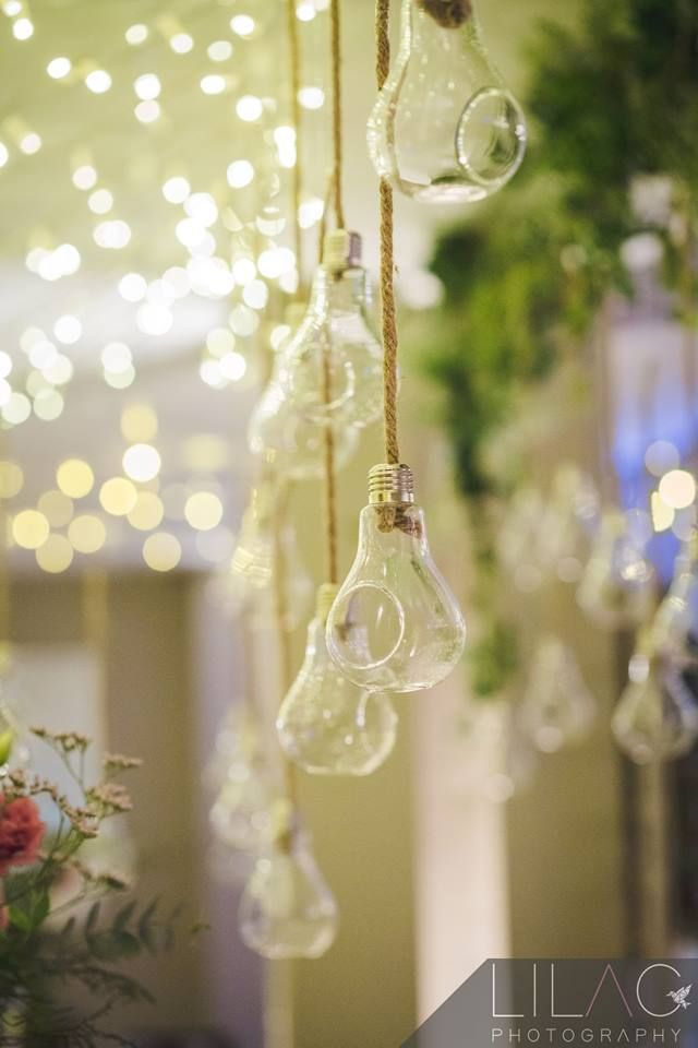Glass and fairy light detail - Bon Cap wedding venue, Robertson South Africa