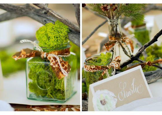 Hochzeitsdeko im Herbst oder 'Alles selbst gesammelt'!