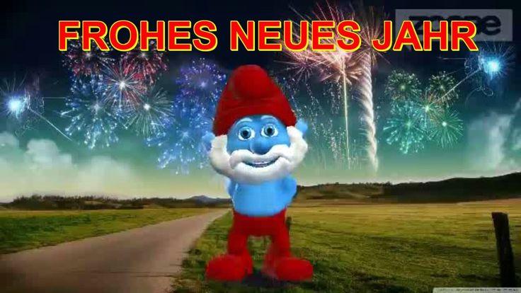 ♥ Silvester Sylvester Frohes Neues Jahr Happy New Year wünscht Schlumpf...