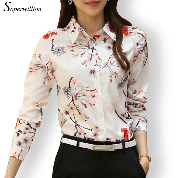 Find More Blouses & Shirts Information about Soperwillton 2016 New Arrival Women's Printed Shirts Blouse Long Sleeve Casual Plus Size Blusas Women Floral Blouse Femme SY509,High Quality blouse dress,China blouse silk Suppliers, Cheap blouse saree from Soperwillton on Aliexpress.com
