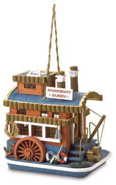 Riverboat Queen Birdhouse eclectic-birdhouses