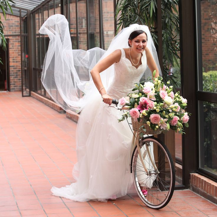 Bride On Bike With Dress Flying At Mercure West Willerby Hull Wedding Photography By Stephen Armishaw