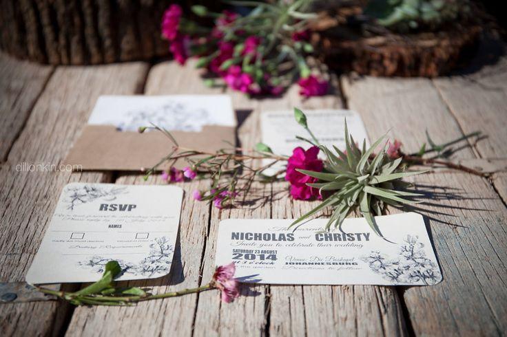 Beautiful spring inspired wedding invitations designed by Gypsy Closet.