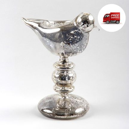 preciouspieces.com.au - Glass Bird Tea Light Set of 2 - Silver, $40.00 (http://www.preciouspieces.com.au/glass-bird-tea-light-set-of-2-silver/)