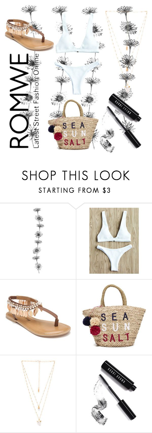 """ROMWE: Win $35 Coupon - Contest"" by jessicariddell1 ❤ liked on Polyvore featuring Penny Loves Kenny, Sundry, Natalie B and Bobbi Brown Cosmetics"