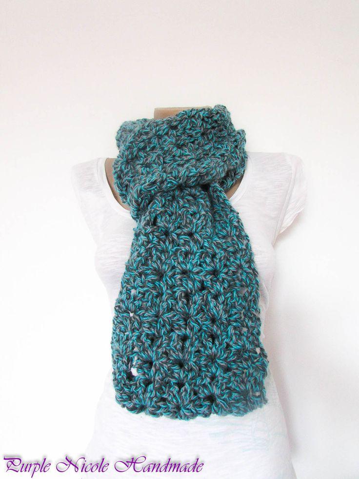 Malachite - Handmade Unisex Infinity Comforter / Neckwarmer by Purple Nicole (Nicole Cea Mov).