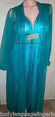 3x gorgeous jade nightgown/robe peignoir set plus size 3x - BUY NOW ONLY 38.0