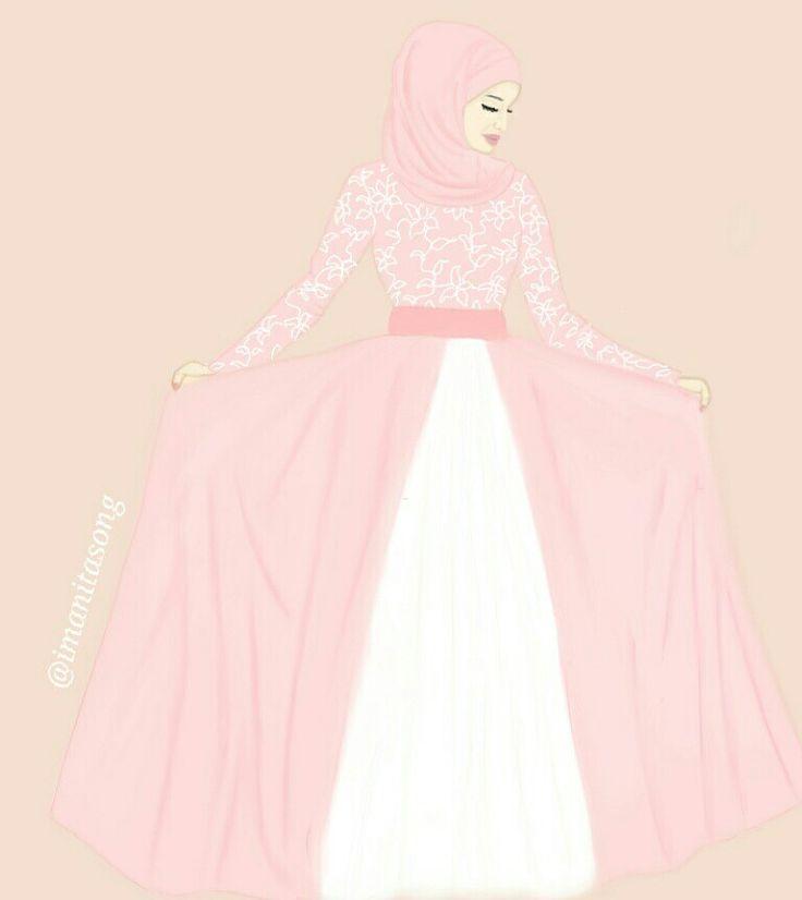 @imanitasong_illustration fashion drawing illustration hijab fashion design