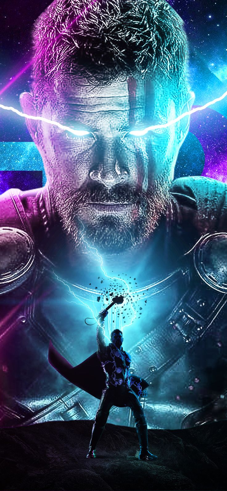Thor Behance Art In 1125x2436 Resolution in 2020 Marvel