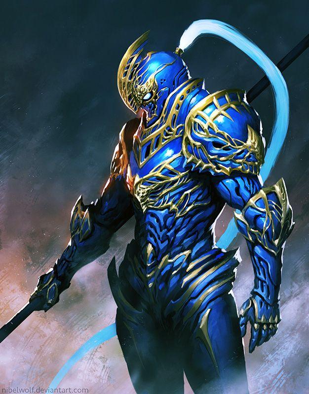 The Blue Knight by nibelwolf.deviantart.com on @DeviantArt