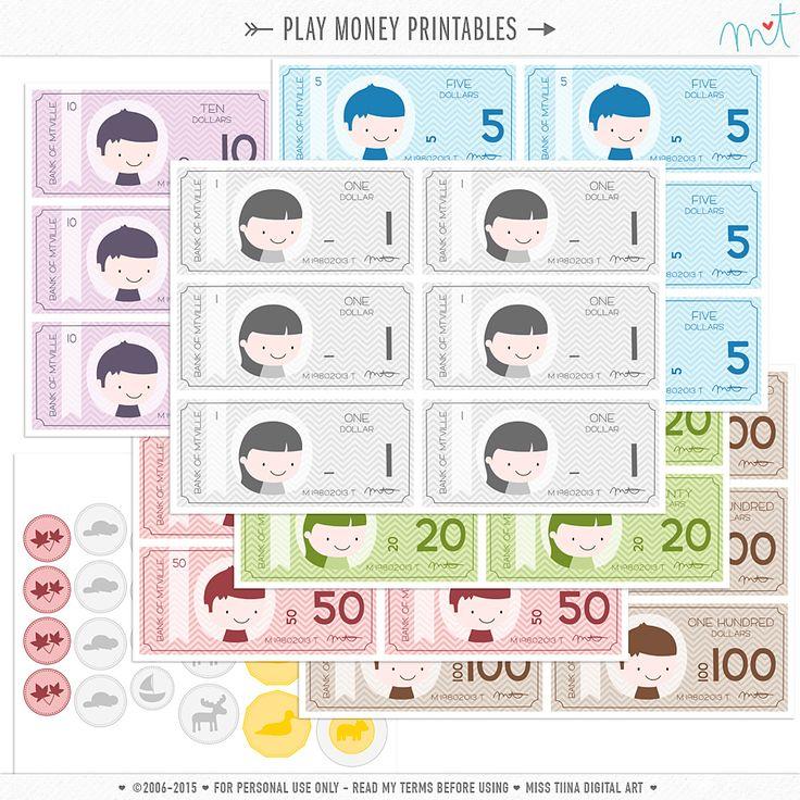 NEW Vector Saving Up + FREE Printable Play Money!