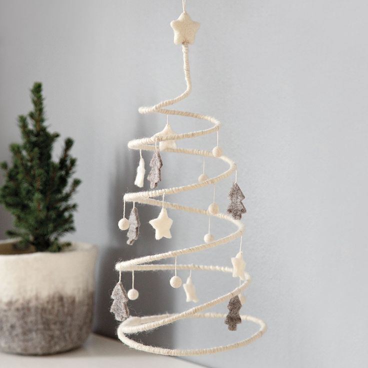 Hang this beautiful Christmas tree in you window or have it standing anywhere in your home #christmasdecor #fairtrade #handmade #madeinnepal #felt ♥