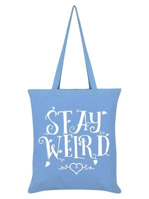 Stay weird, because it's boring being normal! This sky blue tote bag features beautifully ornate text sprouting little leaves all over the place - it's like something from a fairy tale! Finished off with a sweet love heart at the bottom, not only will you feel super cute carrying this around, you'll also let everyone know that you're weird and proud!